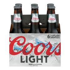 best light beer to drink on a diet coors light beer 6 pk 12 oz bottles 12 0 fl oz walmart com