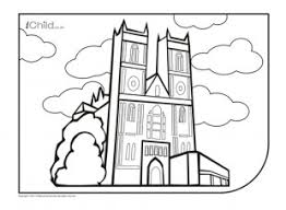 westminster abbey colouring picture ichild