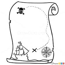 how to draw a map how to draw pirate map