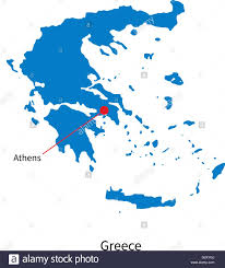 Map Of Athens Greece by Detailed Vector Map Of Greece And Capital City Athens Stock Vector