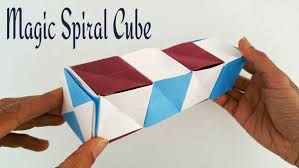 magic spiral cube diy modular origami tutorial by paper folds