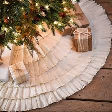 burlap tree skirt creme burlap ruffled tree skirt antique farmhouse