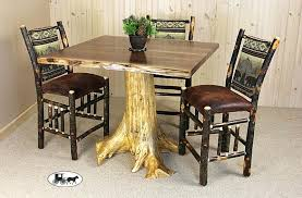 rustic high top table high top table and chairs set rustic counter set high top table and