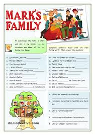 marks family esl worksheets of the day pinterest families