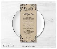wedding menu template printable wedding menus happy digital