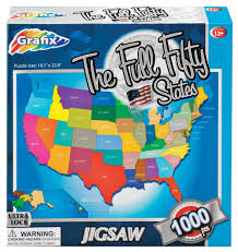 Usa States Map by Amazon Com 50 Us States Map Puzzle 1000 Pieces By Walterdrake