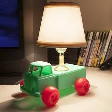 mini kids vintage toy truck table lamp cute and charming kids