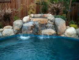 rock waterfalls for pools inground swimming pool waterfalls bing images pool time