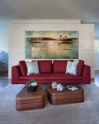 contemporary red sofa pleasant home design