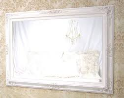 Shabby Chic Mirrors For Sale by Large Mantel Mirror Etsy