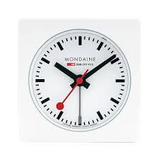 mondaine swiss railways cube alarm clock a996 alig 10sbb 6 8cm