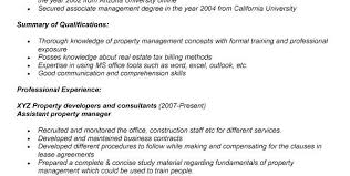 Property Manager Duties For Resume Residential Property Manager Resume Samples Assistant Property