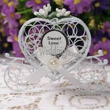 chagne wedding favors personalized metal heart carriage candy boxes finished products
