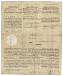thanksgiving proclamation 1789 george washington signed ship u0027s passport sold