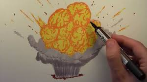 how to draw a cartoon explosion youtube