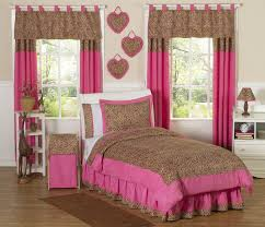 Pink Cheetah Print Curtains Shocking Leopard Print Curtains And Bedding Redglobalmx Home Pict