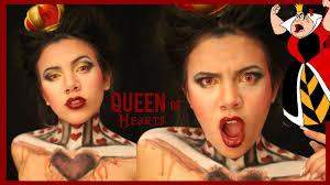 queen of hearts cool halloween makeup tutorial youtube