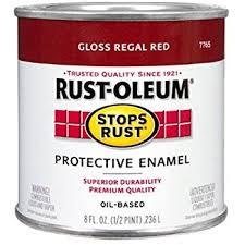 rust oleum 7765730 protective enamel paint 8 ounce regal red