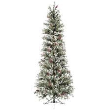 fast shape slim snow pine pre lit tree 7 1 2