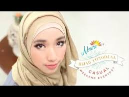 tutorial hijab noura tutorial hijab weekend everyday by sasa noura youtube