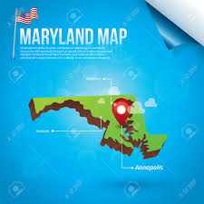 State Of Maryland Map by Map Of Maryland State Royalty Free Cliparts Vectors And Stock