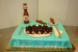serving bbq beer cake 160