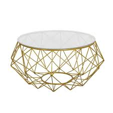 Glass And Metal Coffee Tables Goldtone Metal Coffee Table