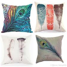 Cushion Core Feather Cushion Cover Peacock Hair Pillow Case Non Core Cushions