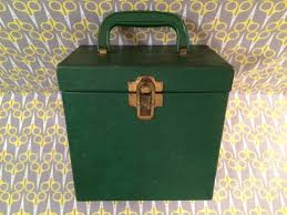 green vinyl record storage box 45 record 7 vinyl