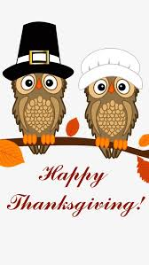 happy thanksgiving owl family png and psd file for free
