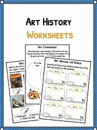 art history facts u0026 worksheets for kids art through the years pdf