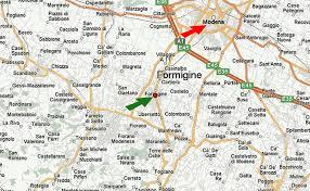 Modena Map by Fiat 124 Spider La Bella Macchina Two Dazzling Enzo Ferrari