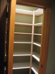 Pantry Shelving Ideas by Corner Pantry Like The Shelves On Shelves To Double Up Space For