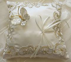 wedding pillow rings wedding ring bearer pillow in and gold