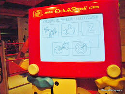 new etch a sketch in toy story midway mania queue hollywood