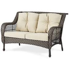 belham living kambree all weather wicker loveseat with cushion