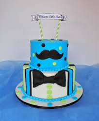 mustache and bow tie baby shower boys mustache bow tie baby shower cake design was b flickr