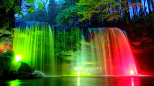 watefalls tag wallpapers blue waterfalls lights park