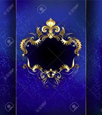 banner decorated with luxurious golden ornament and gold fleur