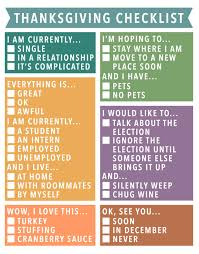 this checklist will answer your relatives nosy questions for you