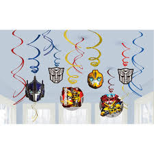transformer party favors transformers party supplies transformers swirl decoration