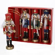 kurt adler wooden nutcracker ornament 4 box set