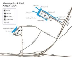 msp airport terminal map minneapolis st paul international msp guide to buses taxis and