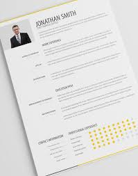 Fashion Resume Templates Simple Resume Template Vol 1