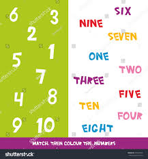 match colour numbers 1 10 kids stock vector 475248736 shutterstock