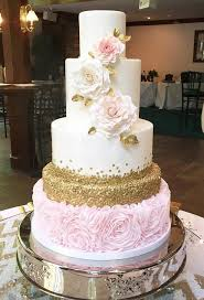 quinceanera cakes pink and gold wedding cake search bridal gowns