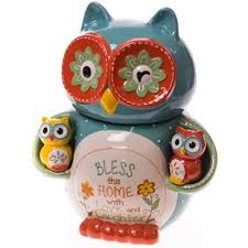owl canisters for the kitchen owl cookie jar and salt and pepper shaker set http shop
