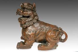 lion foo dog bronze foo dog incense burner