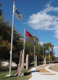 Flag Pole Hill Johnson Park Veterans Memorial Coming Together As Flags Monuments