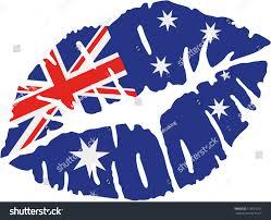 Austailia Flag Australia Flag Kiss Stock Vektorgrafik 518021257 Shutterstock